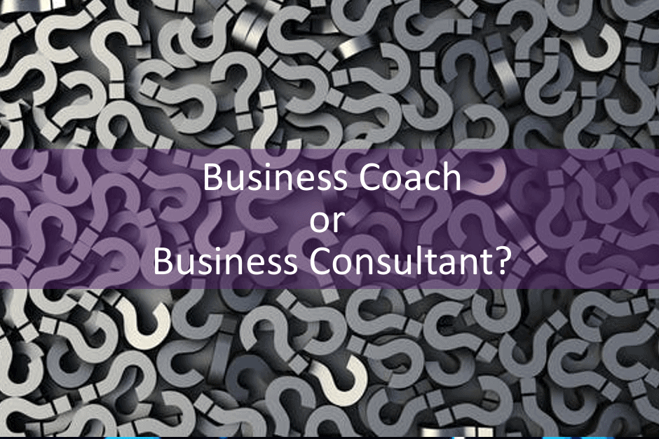 Business coach or business consultant